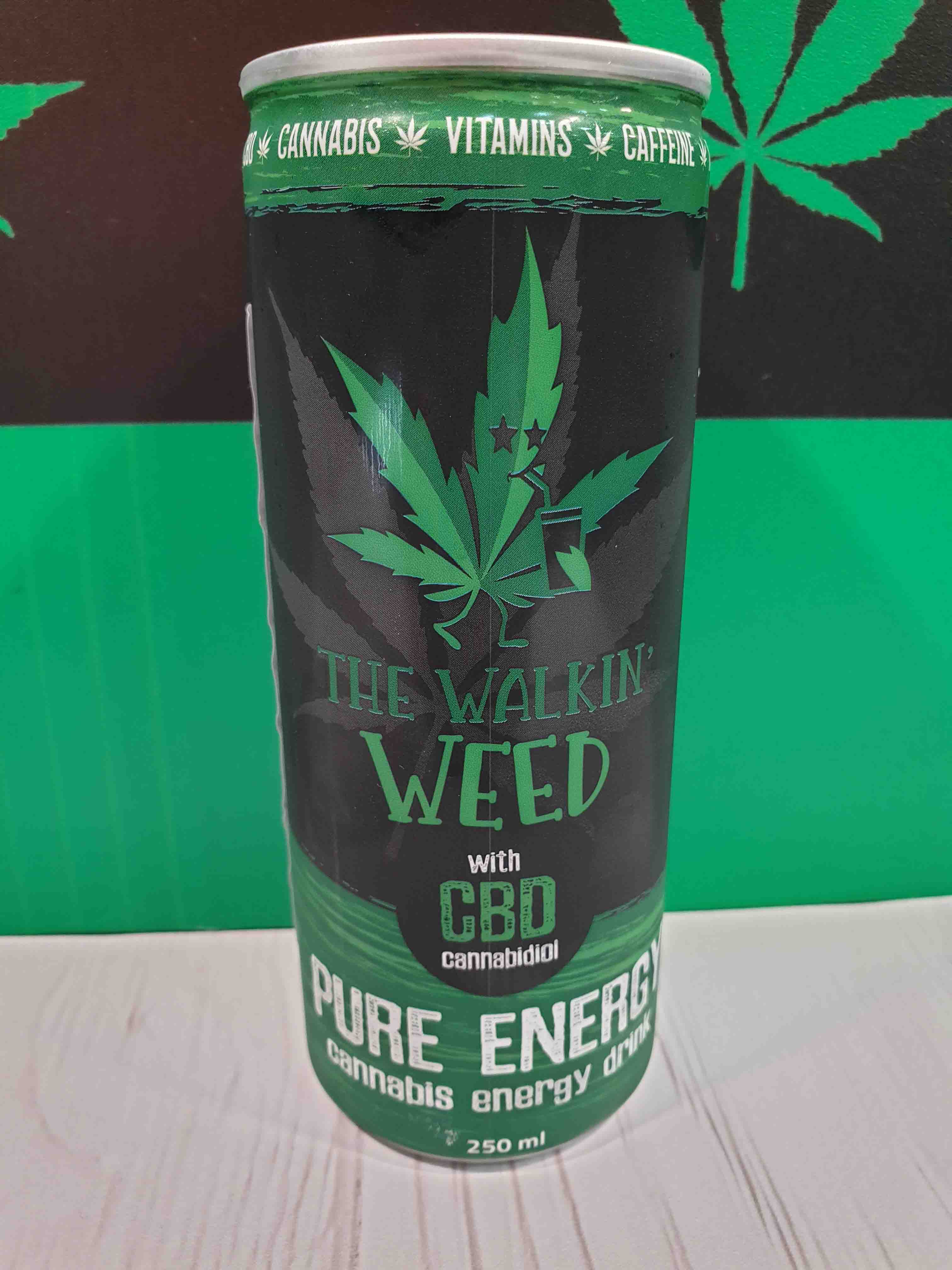 Cannabis Energy Drink The Walking Weed With Cbd Cannabis Store Amsterdam Athens